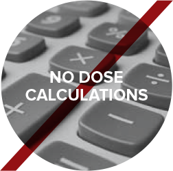 No dose calculations
