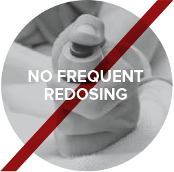 No frequent redosing